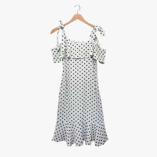 Polkadots White Dress