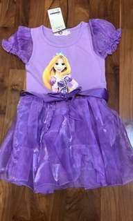🚚 Disney Princess Rapunzel Dress Size 100. For 2-4 years old. Free mailing