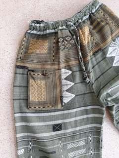 Harem Boho Pants Made in Cambodia (Free Size)