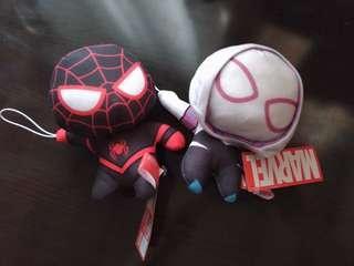 日本正版全新Marvel黑色蜘蛛俠 白色蜘蛛女Spriderman毒魔公仔