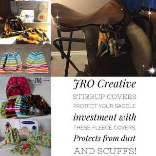 JRO Creative Fleece Stirrup Covers for Equestrians