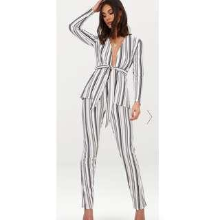 Blazer and Pant set- Striped Coord