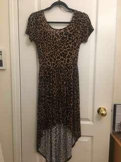 ❗️F21 High Low Leopard Print Dress
