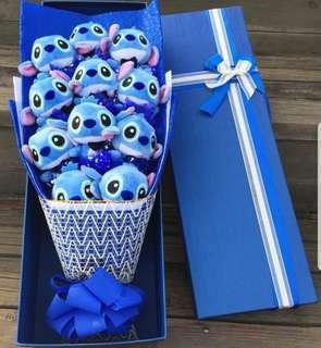 Stitch Bouquet (6 designs) / Soap Flowers Bouquet -  Valentine Day / Anniversary / Proposal / Birthday / Farewell / Get well soon