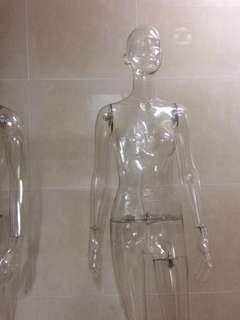 Mannequin 人型模特兒公仔 透明 真人比例 時裝 女