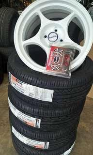 Rp01 16/7.5 tyre90% pcd100