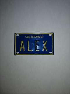 Mini California Name Plate