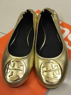 79b78e2ab Tory Burch Reva Ballet Flats in Gold in sz US7.5