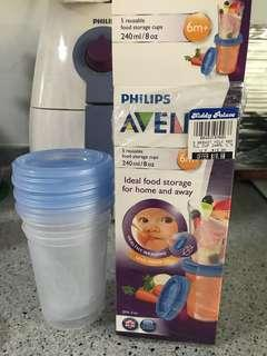 🚚 Avent Food Storage Cup 240ml 8 oz