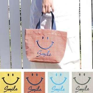 🚚 微笑笑刺繡帆布手提包
