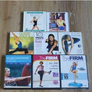 Collection of Fitness and Workout DVDs