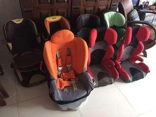 Booster seats and car seats for sale