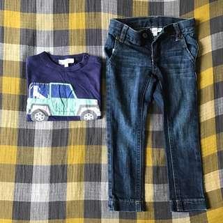 Seed 牛仔褲 長袖衫