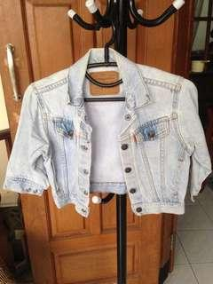 Cropped Denim Outer