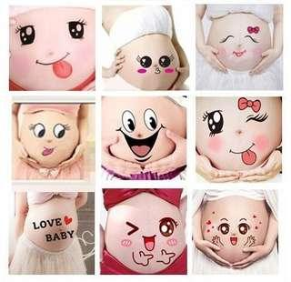 Maternity Sticker Belly Sticker Facial Expression Sticker