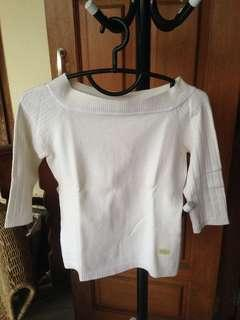 Slim-T White Knitted Top
