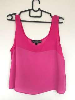 🚚 Topshop Fuchsia Cropped Top