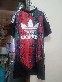 Adidas long Tee 雪紡袖長身衫