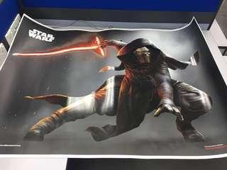 🚚 Star Wars poster (Kylo Ren) Size: 1m x 1.4m