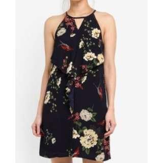 MDS Halter Neck Floral Dress