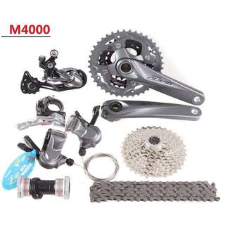 8b4d0180ea0 SHIMANO ALIVIO M4000 27 speed Groupset, Bicycles & PMDs, Parts &  Accessories on Carousell