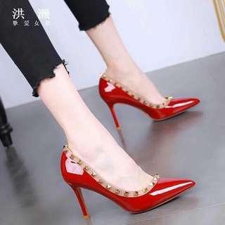 Korea soft leather heels