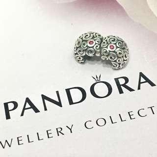 Pandora 絕版 Red Squiggle Clip