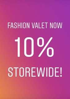 10% of On Fashion Valet include DuckScarves, Raya Collections! Storewide!