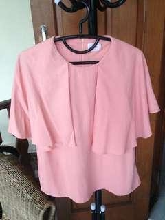 Gaudi Pink Cape Blouse
