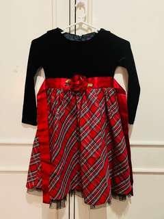 Girl's velvet dress (5-6yrs old)