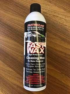 Fast Wax cleaning wax 洗車神器