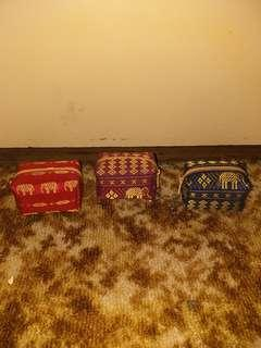 Thailand elephant money bag selling all 3