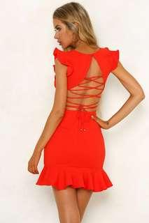 Stunning Take the Reigns Dress - Red