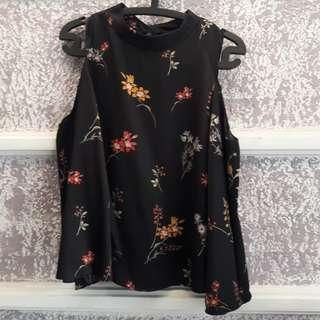 Black Flower Top