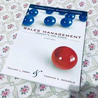 Sales Management Concepts and Cases