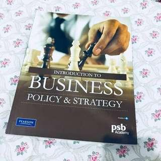 Introduction to Business Policy & Strategy