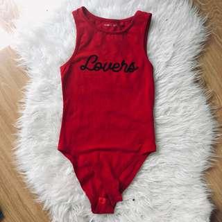 COTTON ON Lovers Bodysuit (Red)