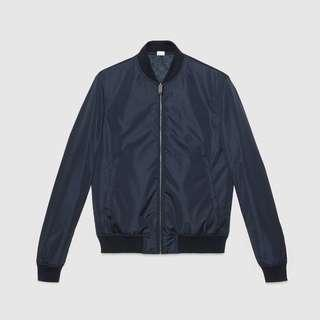 Gucci bombar reversible jacket blue color