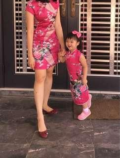 Mother and daughter cheongsam free postage #apr10