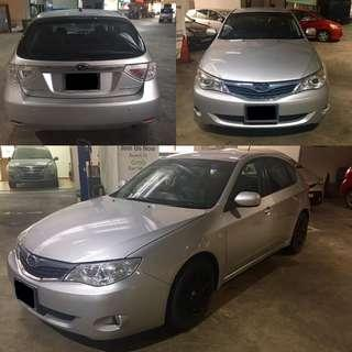 Subaru impreza hatchback for rent