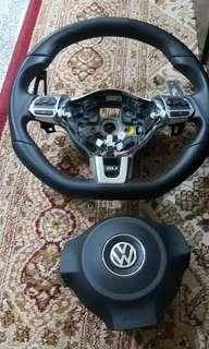 Volkswagen GLI MK6  flat bottom steering wheel