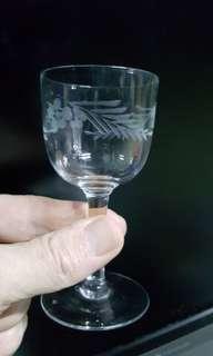 Vintage Crystal sherry and Port Glasses