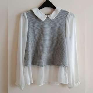 White mx grey  Top