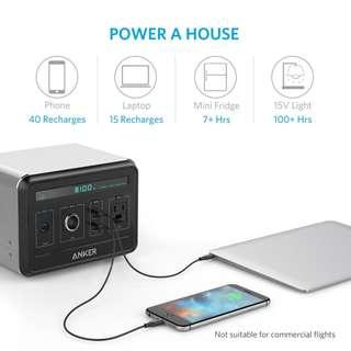 Anker Powerhouse 400Wh 120000mAh AC Generator Powerbank