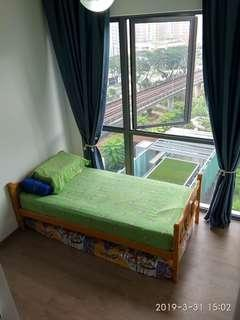 Single bed frame with ikea mattress
