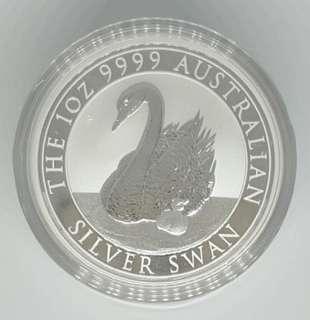 🚚 2018 Perth Mint 1 oz Silver Swan BU