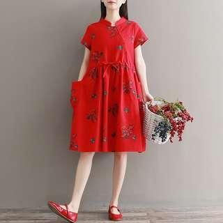 Modern Cheongsam Maternity and Casual Dress