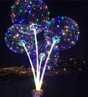 18 inch led bobo balloon with fairy lights and stick