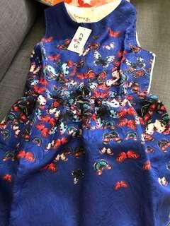 🚚 Royal blue butterfly dress