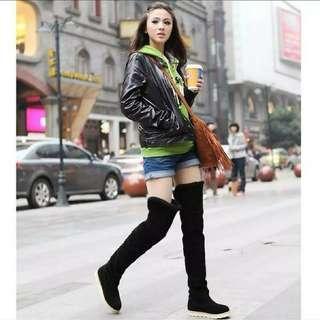 Overknee boots selutut sepaha boots winter